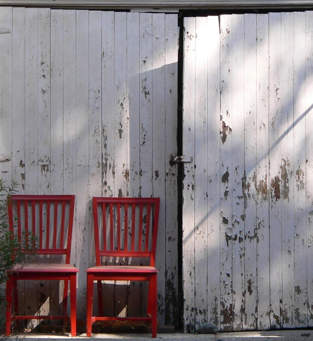 Two Red Chairs by Karen Greenbaum-Maya