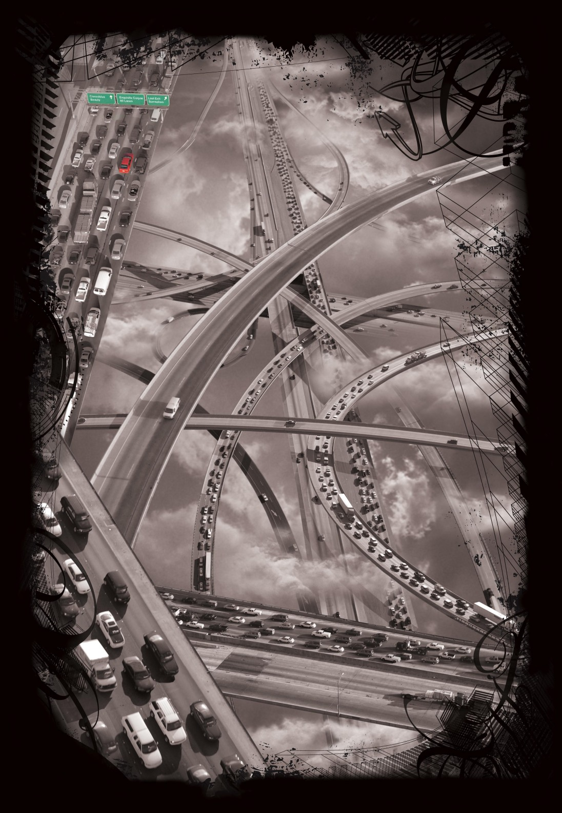 Freeway Tangle by Doug McCulloh