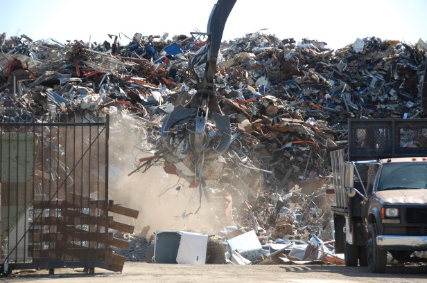 Fontana Scrap Yard by Jeff Mays
