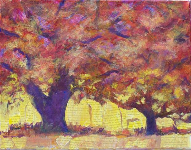 Lavina Blossom: Light Fall - 11 x 14 inches, on stretched canvas