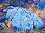 Lavina Blossom: Sentry - 12 x 16, on wood panel