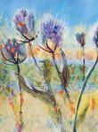 Lavina Blossom: Thistles, Muir Beach - 12 x 16 inches, on 140 lb. watercolor paper