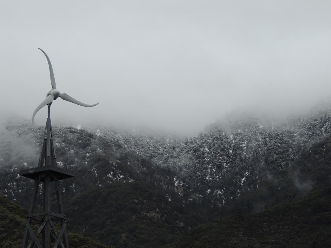 Jeff Mays - Winter Dust, Windmill, Oak Glen