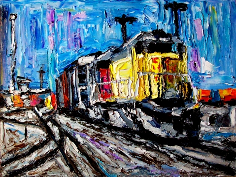 Allen_Forrest-forrest_train_san_jose_ca_oil_on_canvas_panel_12x16_2014